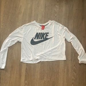 Nike long sleeve crop top